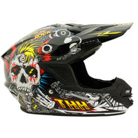 THH TX-15 Kids Rock N Roll Helmet BLACK/FLOURO BLUE/RED