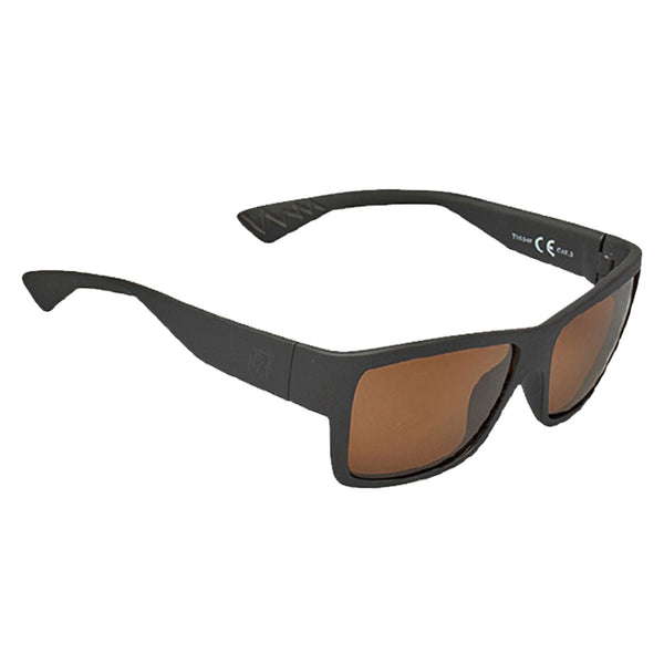 Jetpilot Dagger Matte Black/Brown Polarised Floating Sunglasses S20995