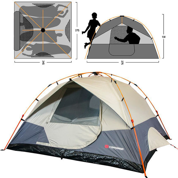 Caribee Spider 4 Man Easy Up Tent