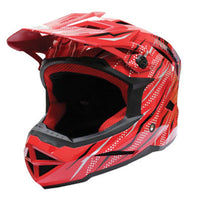 THH T-42 ADULT Motorbike Race Helmet RED WHITE