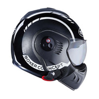 Roof Boxer V8 LP20 Black/Metal/White Full Face Helmet