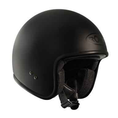 Roof Vintage Matt Black Open Face Helmet