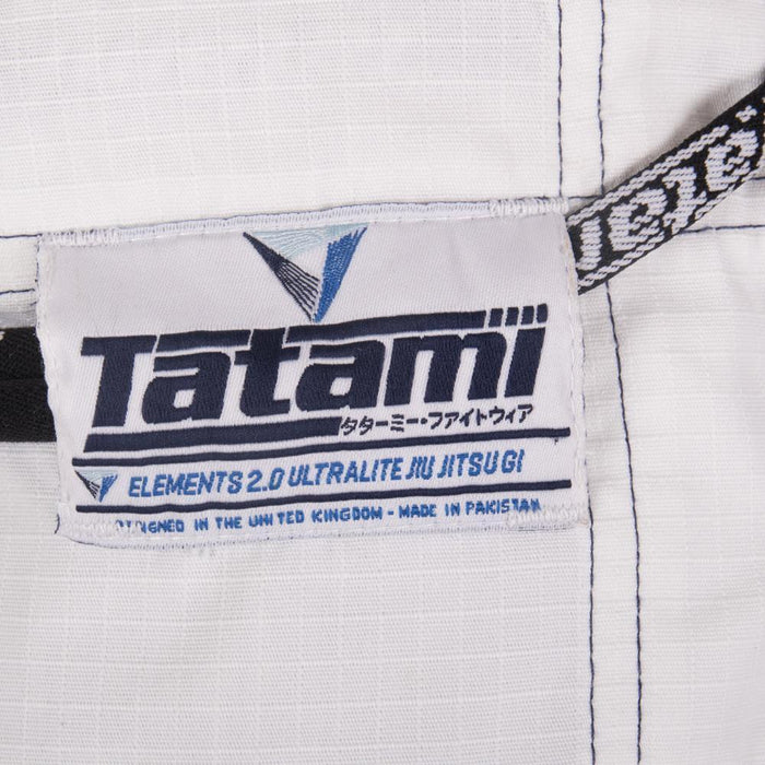 Tatami fightwear Elements Ultralite 2.0 Gi white logo pants