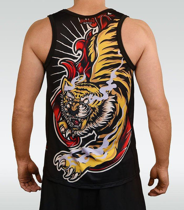 Ground Game Red Tiger Tank Top