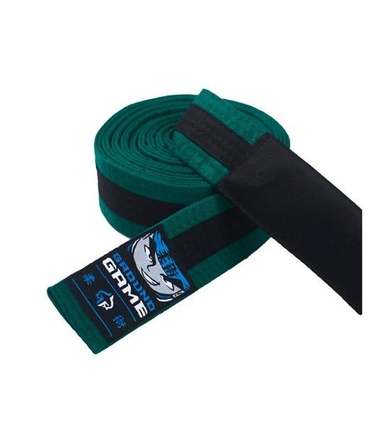 Ground Game BJJ Kids Belt Green with Black Stripe