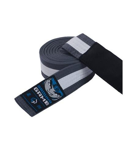 Ground Game BJJ Kids Belt Grey with White Stripe
