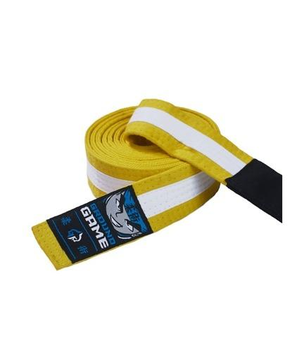 Ground Game BJJ Kids Belt Yellow with White Stripe