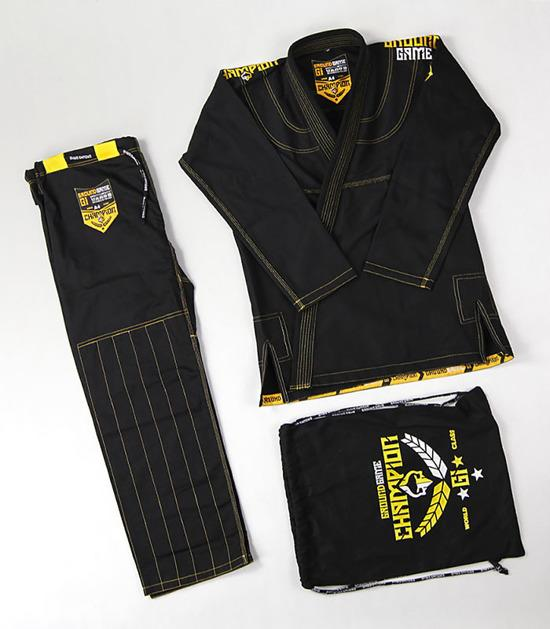 Ground Game Champion 2.0 BJJ Gi Black