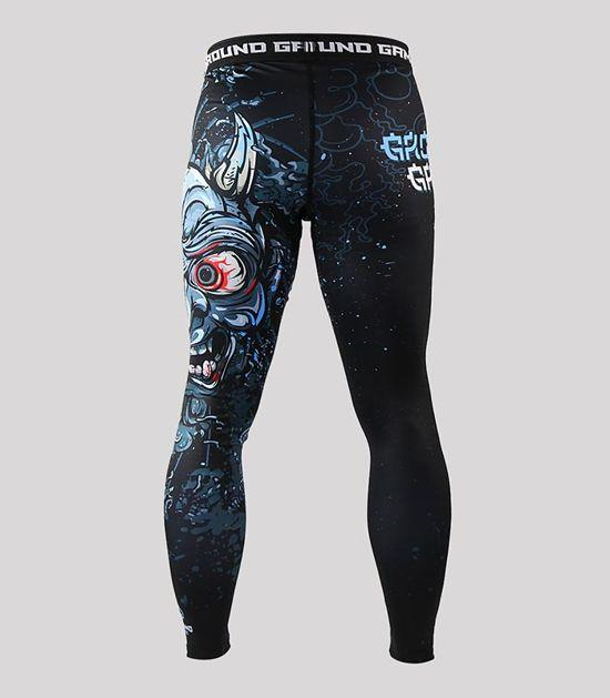 Back view of a Ground Game Oni Black Leggings
