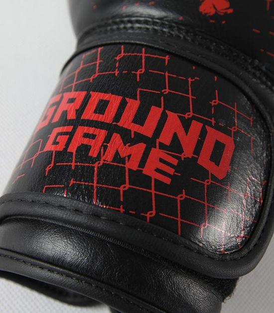 Details of a Ground Game Red Skull Boxing Gloves PRO
