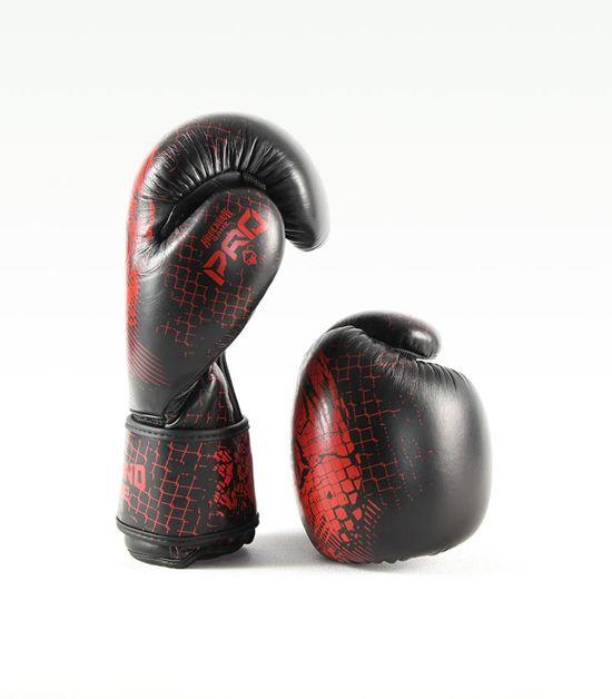 Side view of a Ground Game Red Skull Boxing Gloves PRO