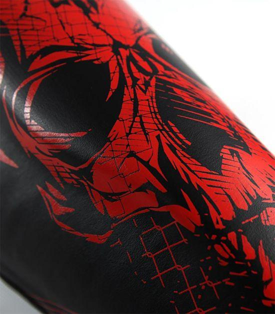 Details of a Ground Game Red Skull Shin Guards