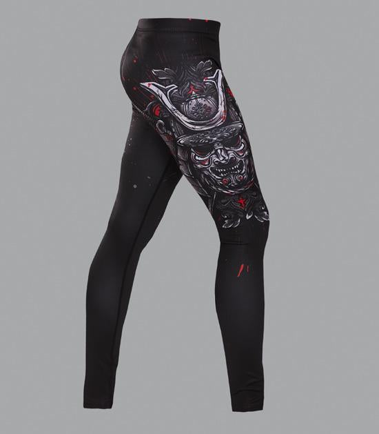 Right side view of a Ground Game Samurai Mask Leggings