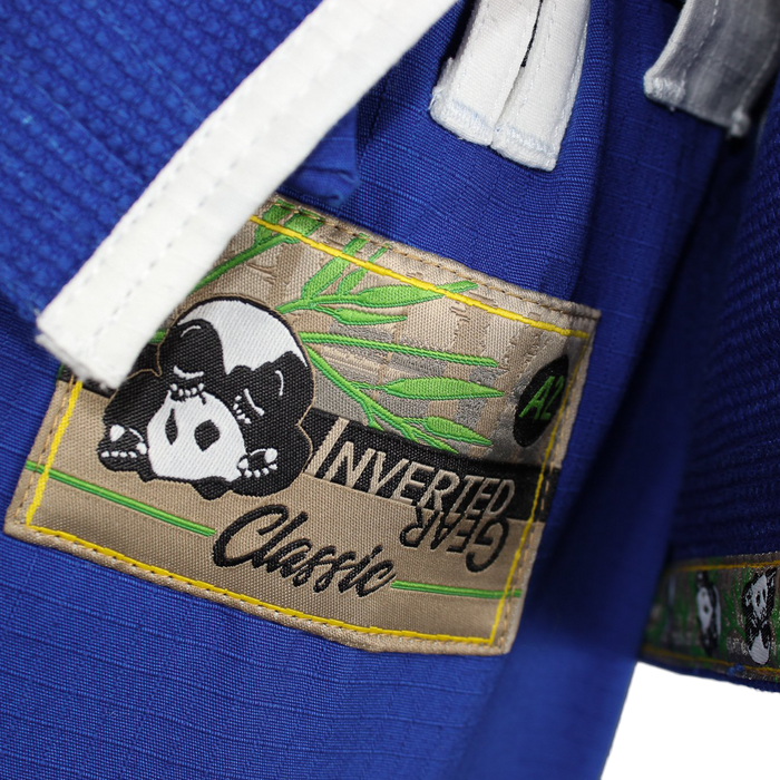 Inverted Gear Panda Classic Gi blue front pants label