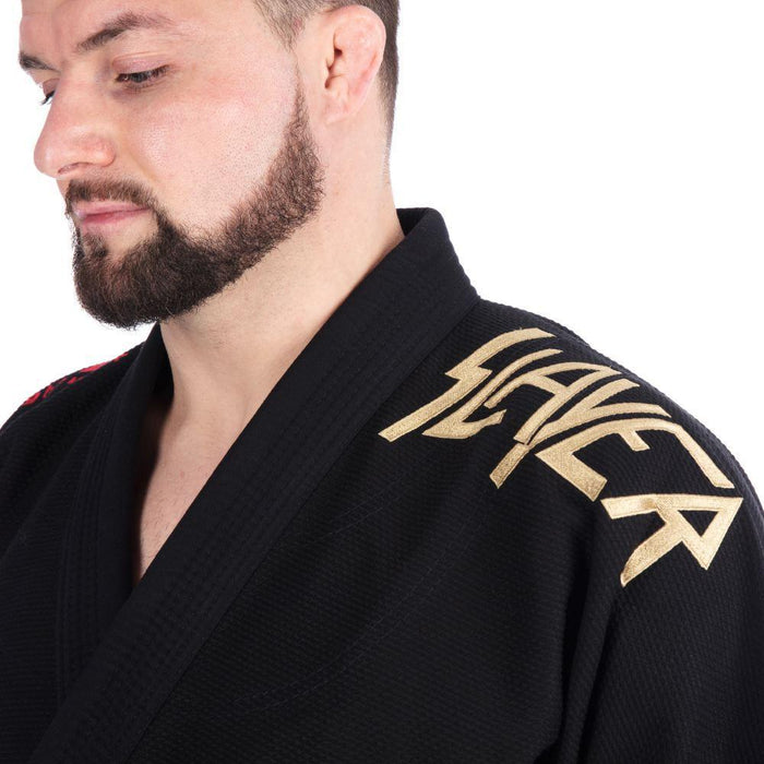 Tatami x Slayer Final Tour Gi shoulder left closeup