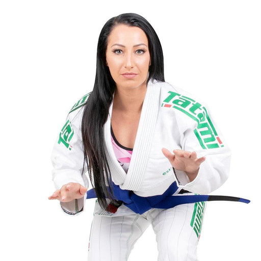 Tatami Ladies Estilo 6.0 BJJ GI White & Emerald