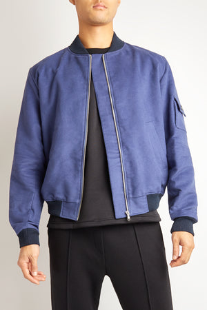 MIDNIGHT FRENCH BLUE BOMBER JACKET