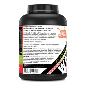 Amazing Muscle Whey Protein Gainer Strawberry Flavor 6 Lbs