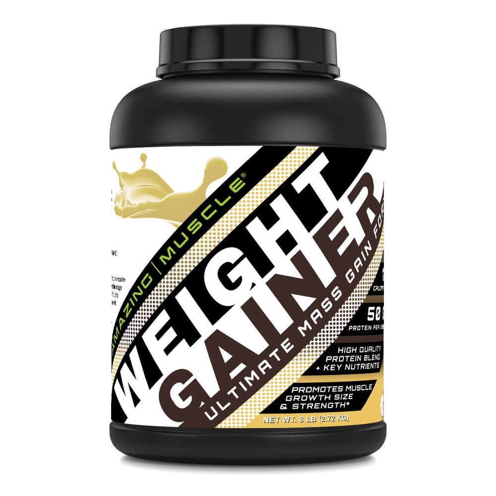 Load image into Gallery viewer, Amazing Muscle Whey Protein Gainer Vanilla Flavor 6 Lbs
