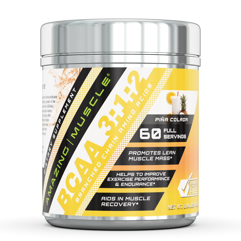 Amazing Muscle BCAA 3:2:1 with Natural Flavor & Sweetners Pina Coloda