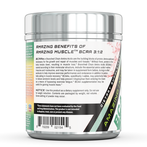 BCAA 3:2:1 with Natural Flavor & Sweetners 60 Servings Watermelon | Amazing Muscle