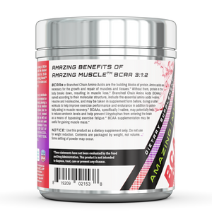 Amazing Muscle BCAA 3:2:1 with Natural Flavor & Sweetners Wild Berry