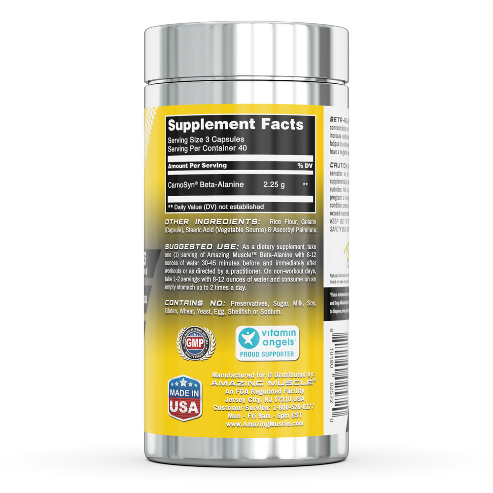 Load image into Gallery viewer, BETA-ALANINE | 2.25 Gram - 120 Capsules