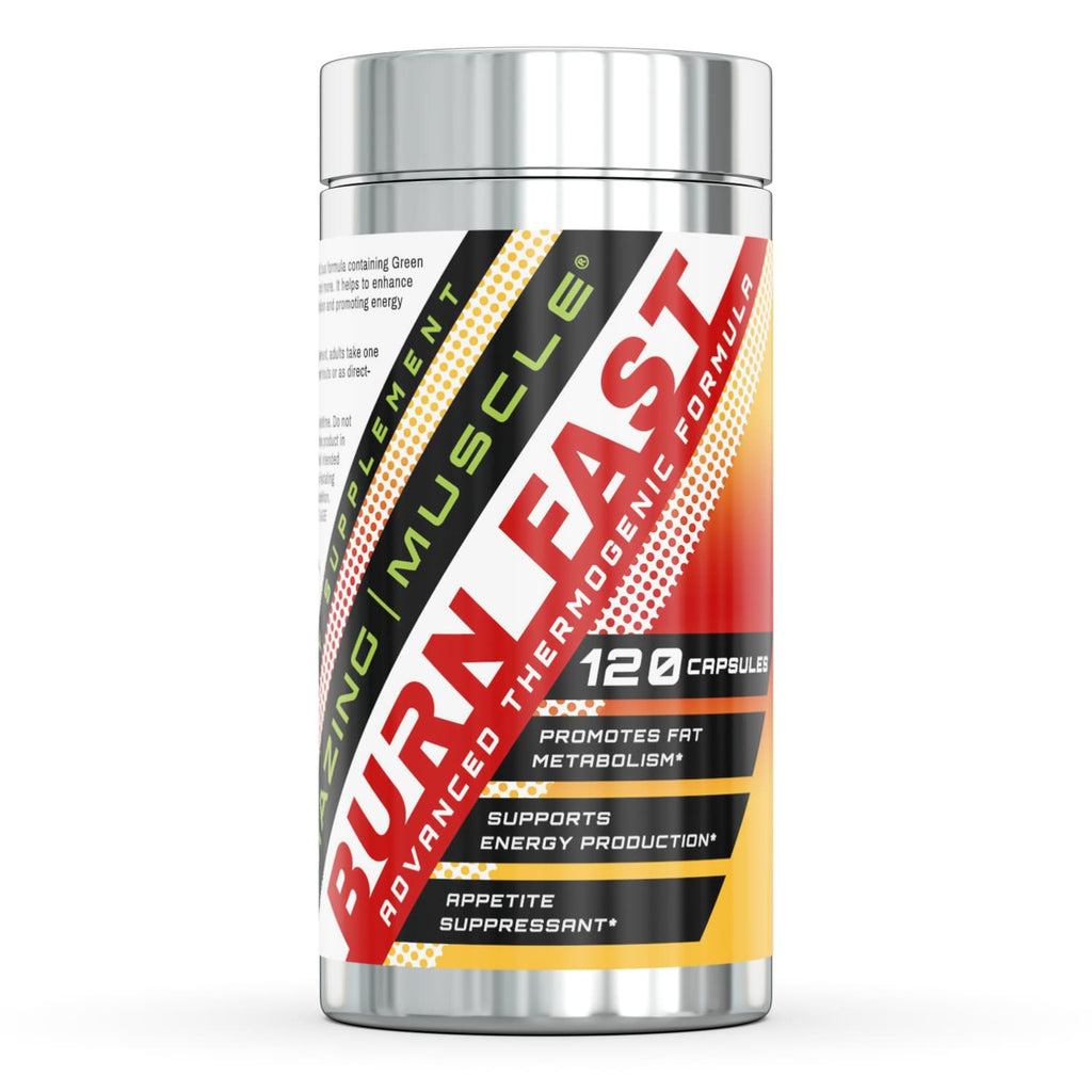 Amazing Muscle Burn Fast Thermogenic Formula 120 Capsules.