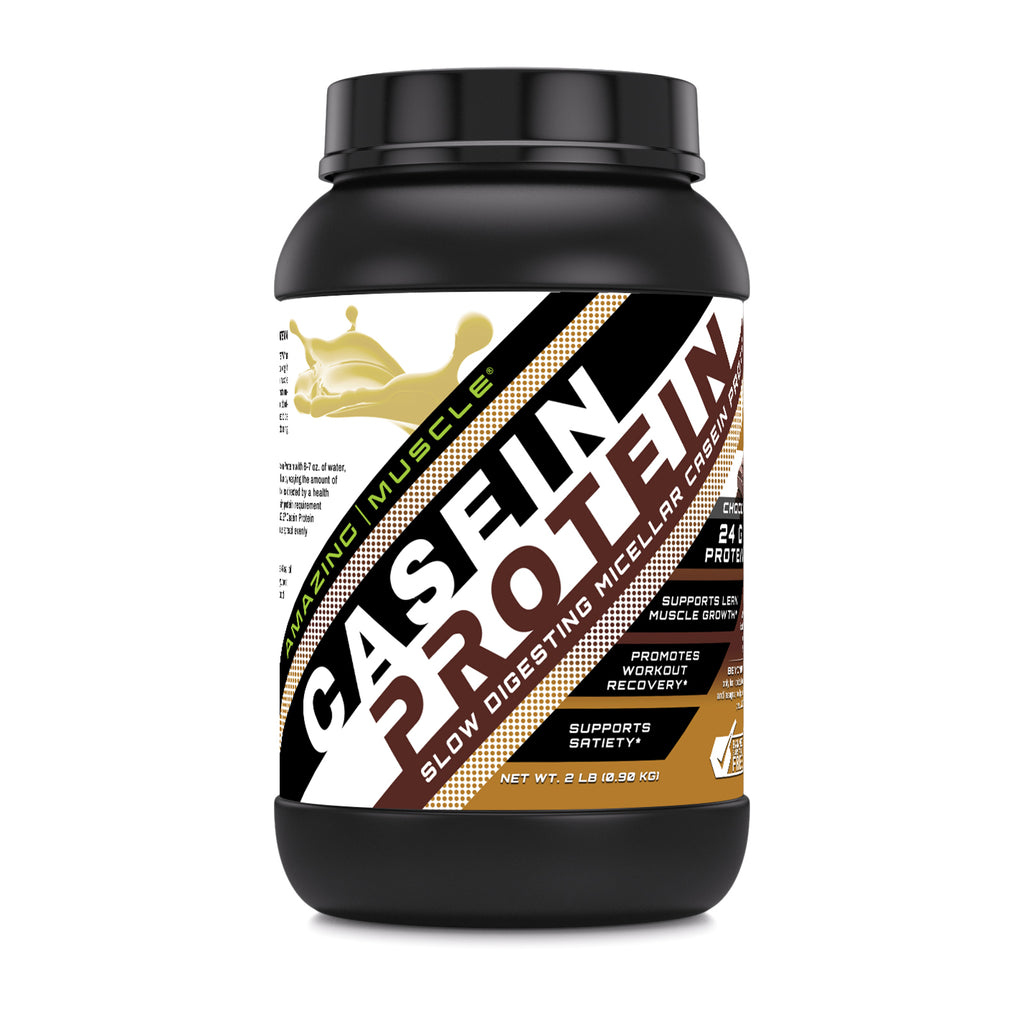 Amazing Muscle - Casein Protein - Dutch Chocolate - 2LB