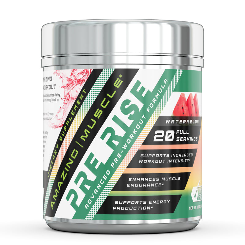 Amazing Muscle Pre Rise - Advanced Pre-Workout Formula - 20 Servings