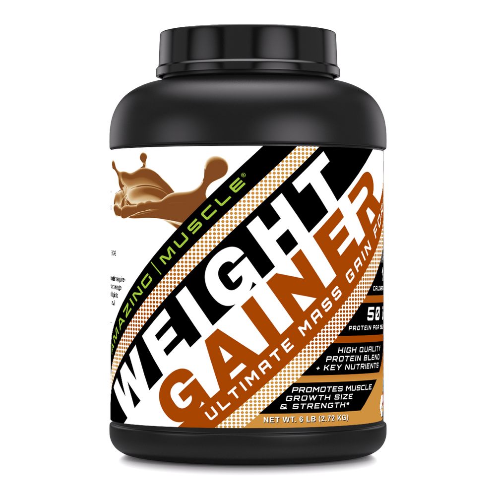 Whey Protein Gainer (6 Lb) - Supports Lean Muscle Growth,Strength & Workout Recovery | Amazing Muscle