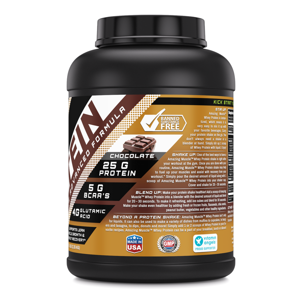 WHEY PROTEIN | Isolate & Concentrate - 5 Lbs