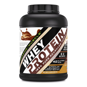 Amazing Muscle Whey Protein (Isolate & Concentrate) Banana Flavor 5 Lbs