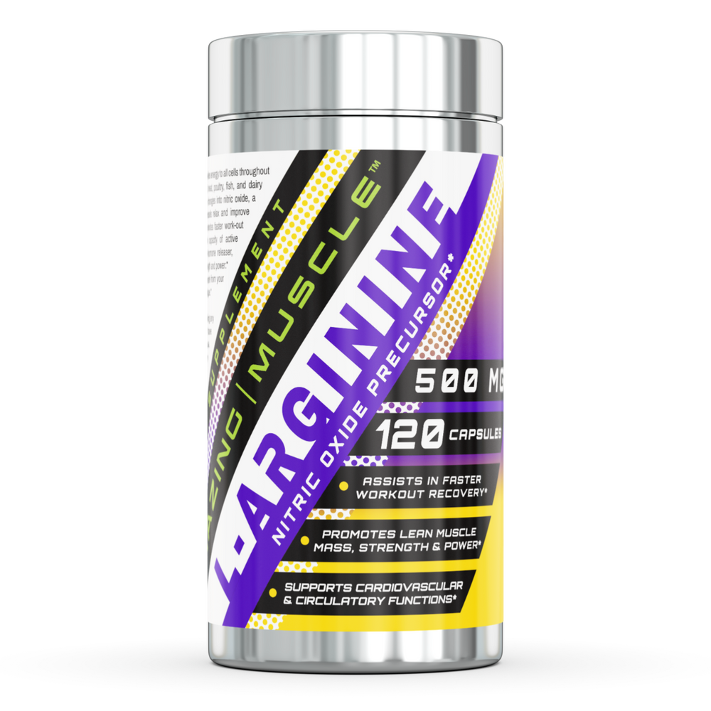 L-ARGININE | Essential Amino Acid - 500 Mg