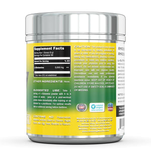 Amazing Muscle L-Glutamine Powder Supplement Unflavored 90 Servings 1lb jar