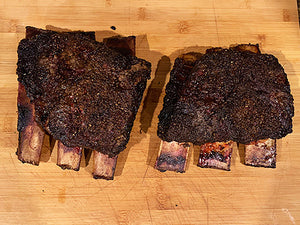 USDA Choice or Higher Beef Plate Short Ribs NAMP 123A (2 ea 4-6 lb Rib Racks)