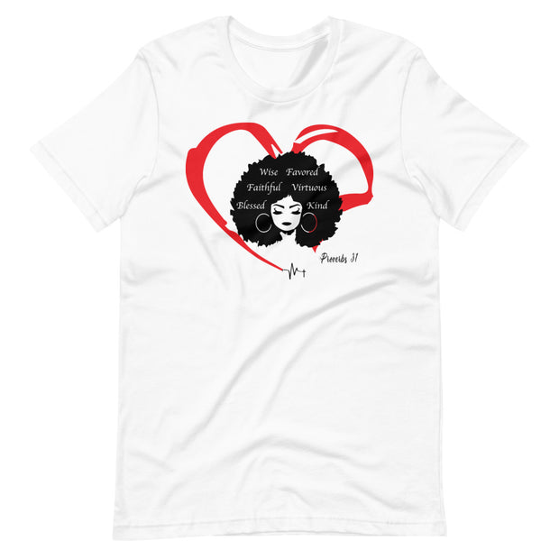 The Heart of a Proverbs 31 Women Printed Cotton Casual T-Shirt