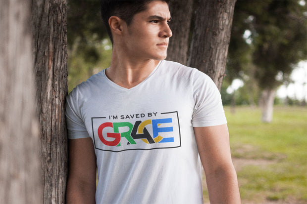 I'm Saved by Grace White T-Shirt
