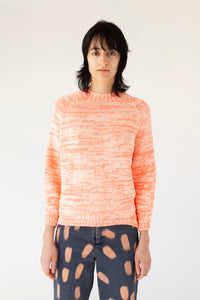 Knit Sweater - Neonred Creme