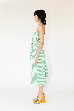 Ravy Overall - Striped Green