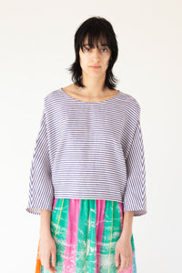 Nice Back Top - Purple Stripes