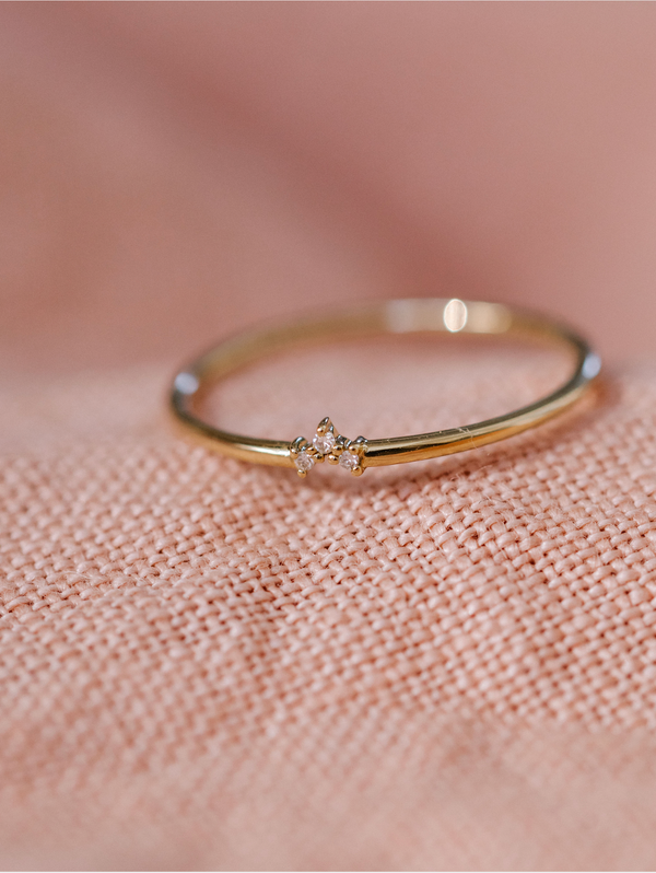 PRE-ORDER - Tiny Diamond Trio Ring