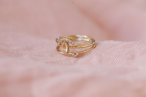 PRE-ORDER - Rose Quartz Marquise Ring