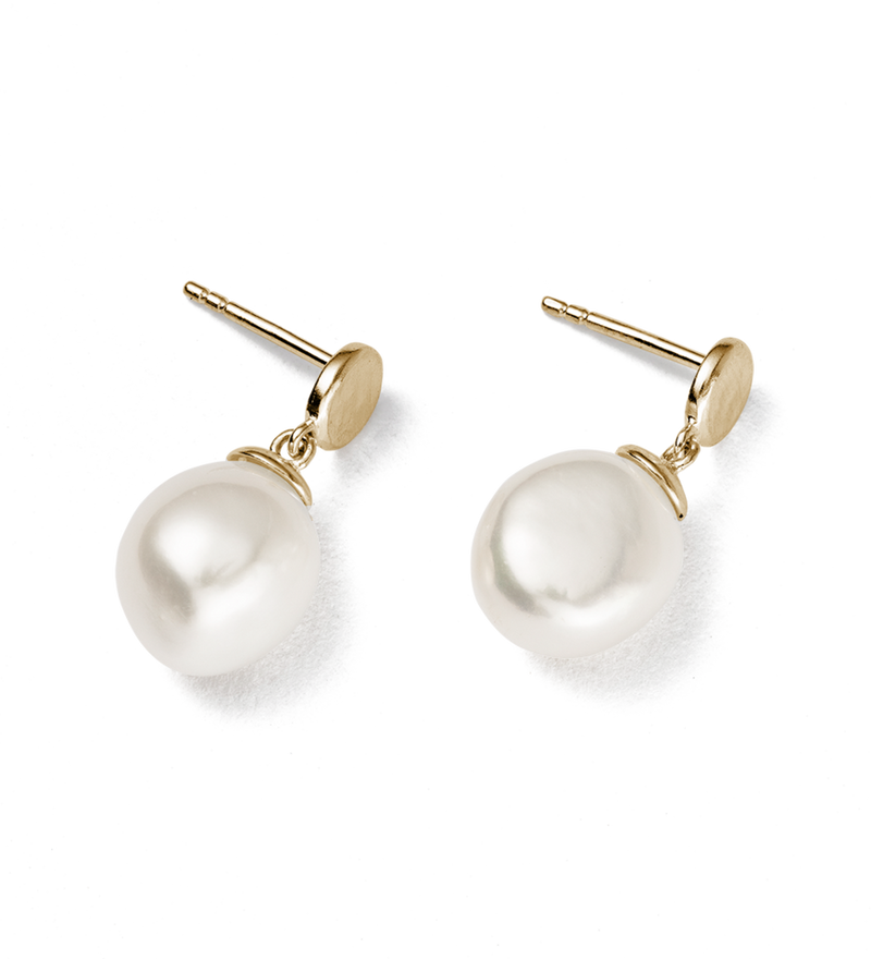 MOON TIDE PEARL EARRINGS