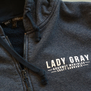 Ladies Hoodie ~ Skywalker OG Logo Design, Navy Heather, Organic Cotton