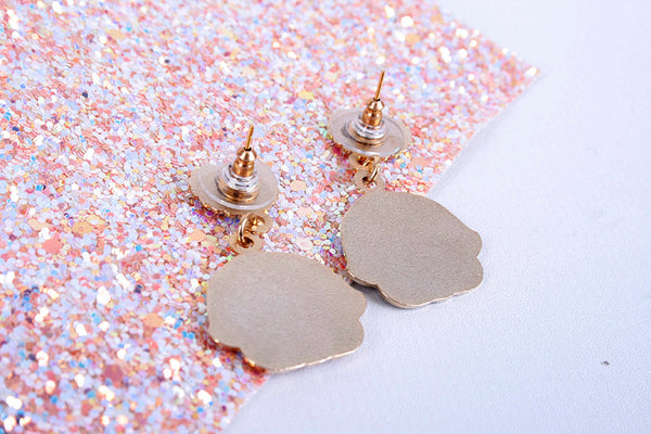 brown or blondie kewpie earrings
