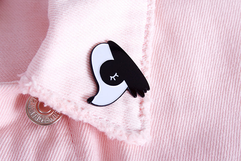 cute doggy soft enamel pin
