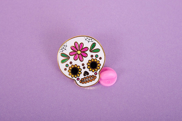 calaverita pin sugar skull pin