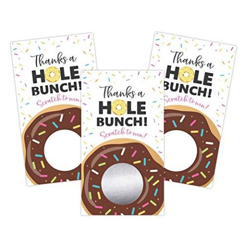 Donut Sprinkle Blank Gift Certificate Scratch Off Cards Vouchers for Holiday, Christmas, Birthday, Small Business, Restaurant, Spa Beauty Makeup Hair Salon, Wedding Bridal, Baby Shower Favors Games