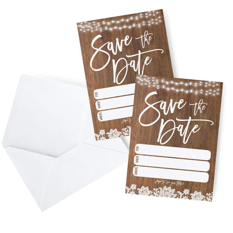 Rustic Save The Date Amazon Template